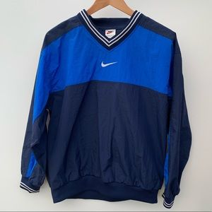 Vintage Nike Blue Pullover Windbreaker Long Sleeve
